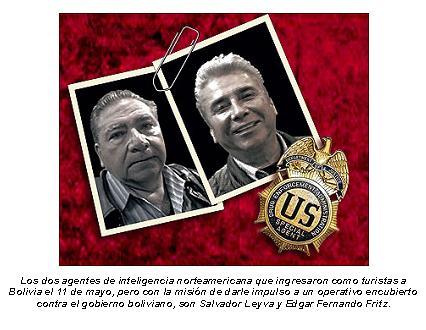Agentes encubiertos de EE.UU.  ingresaron a Bolivia