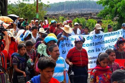 Marcha por el Agua entra en su tercer día en Guatemala