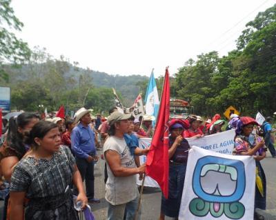 Llega a Ciudad Guatemala la Marcha por el Agua, la Madre Tierra, el Territorio y la Vida