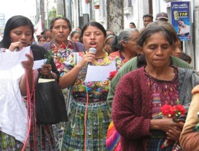 Bloque de mujeres de Guatemala exige libertad de presos políticos