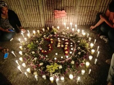 Solidaridad con el pueblo de Guatemala por niñas muertas
